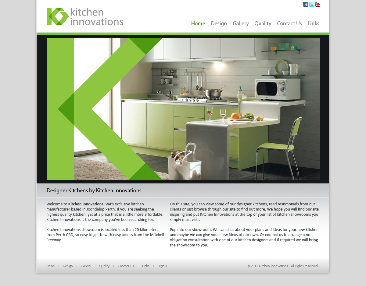 Web Design By Eric For Website For Kitchen Showroom   Design #325264