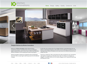 Elegant Playful Web Designs For A Business In Australia - Kitchen design website