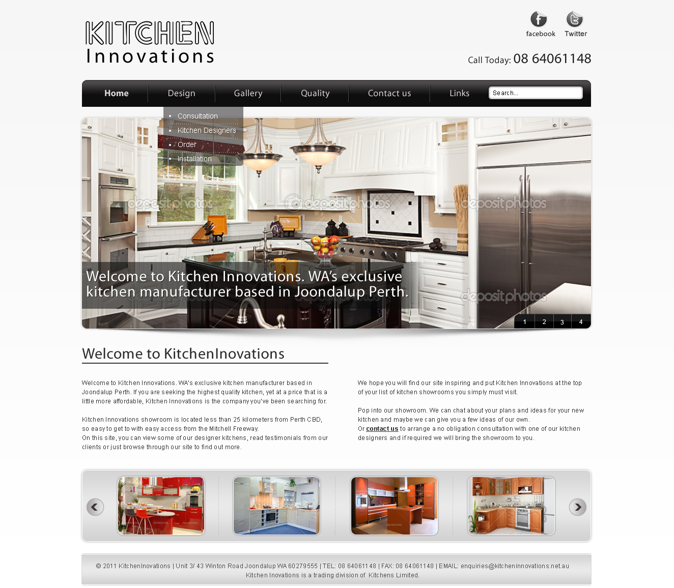 Elegant, Playful, Kitchen Web Design for a Company by LogoDesigns.ae ...