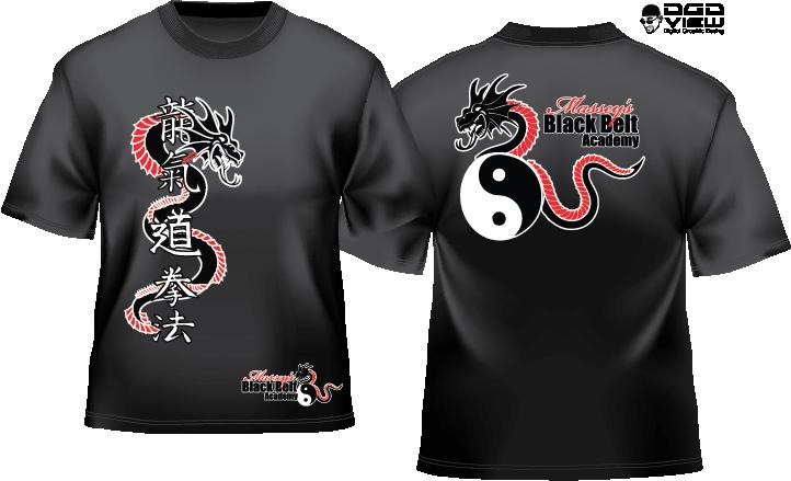 Martial Arts Graphic Design Tshirts