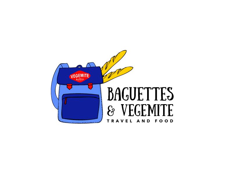 Travel Logo Design For Baguettes Vegemite By Wonderland Design