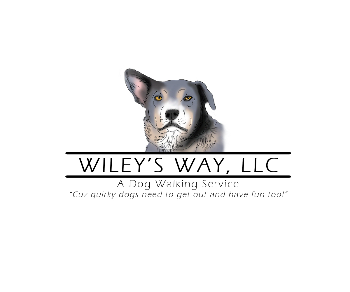 Dog walking logo