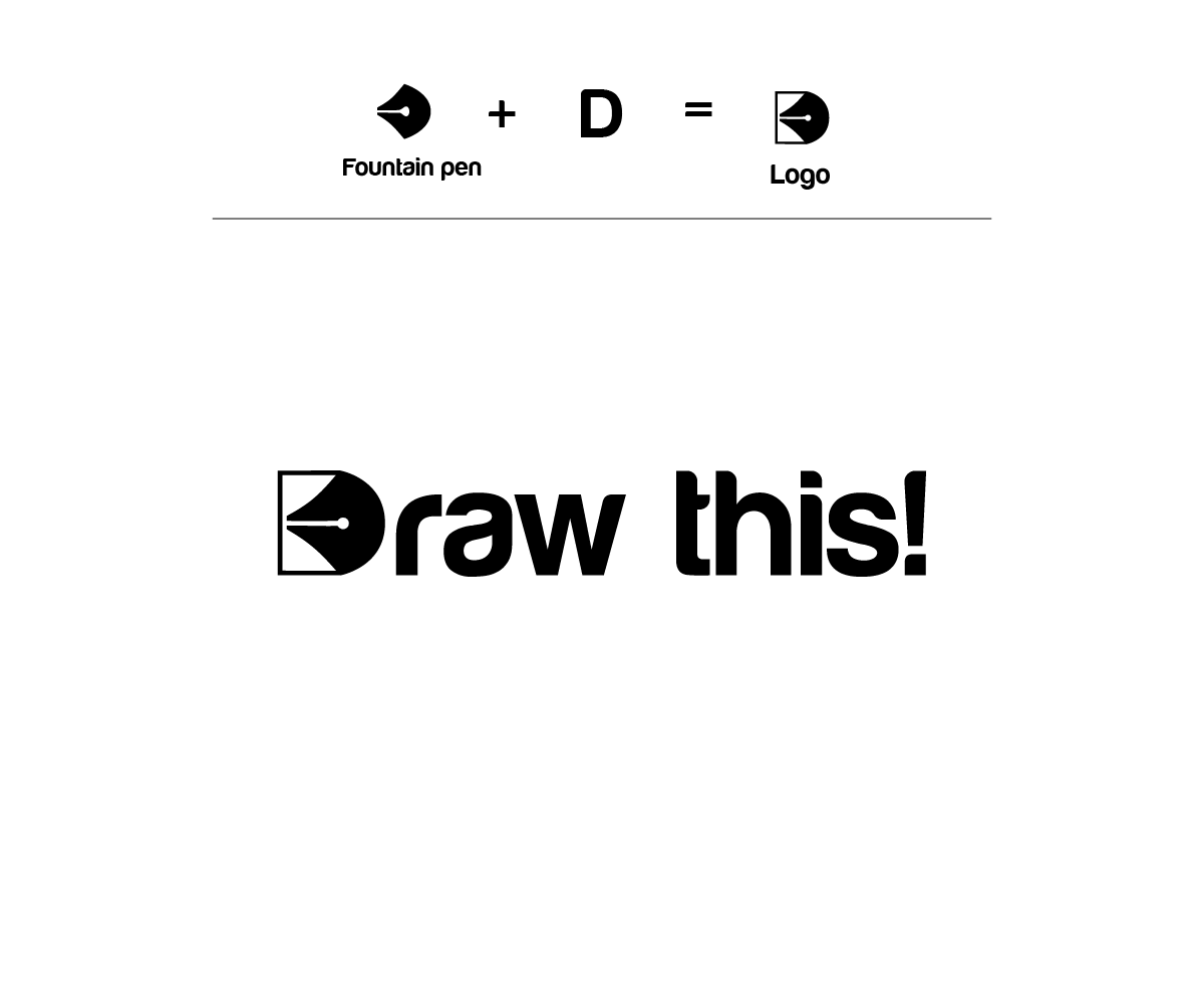 Elegant Modern Artists Logo Design For Draw This By Andrew