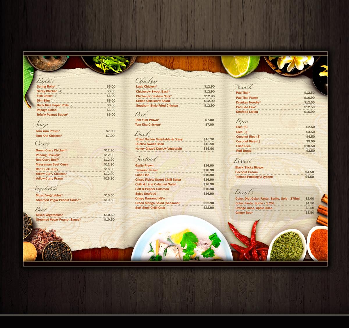 restaurant menu design images