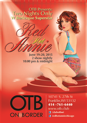 Flyer Design by Chirstina - OTB Red Hot Annie Flyer