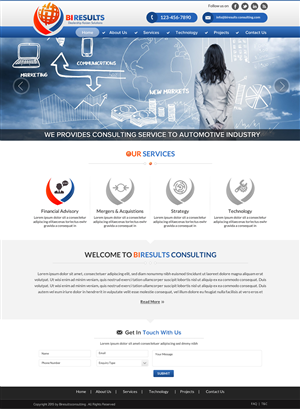 Web Design by Smart - Web Design for Automotive Consulting Firm