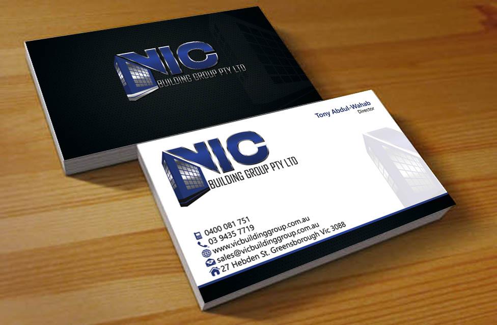 42 elegant business card designs building business card design business card design by hardcore design for vic building group pty ltd design reheart Images