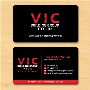 42 elegant business card designs building business card design business card design by creation lanka for vic building group pty ltd design reheart Choice Image