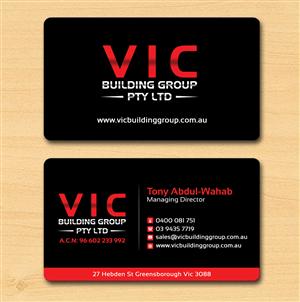42 elegant business card designs building business card design business card design by creation lanka for vic building group pty ltd design reheart Images