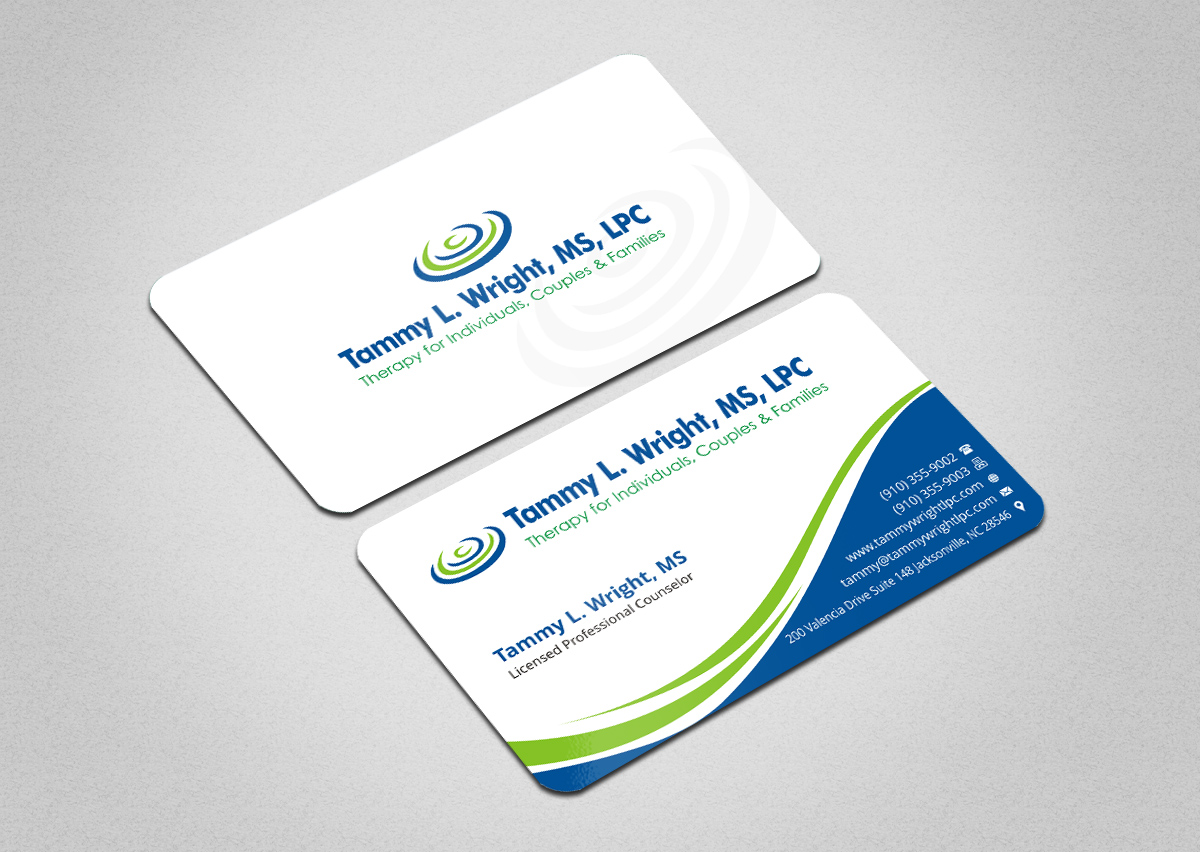 Business Card Design for Brief Therapy Center of Paris by ...