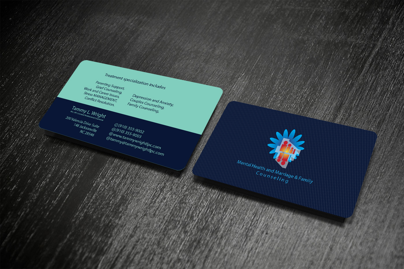 Business Business Card Design for Brief Therapy Center of Paris by ...