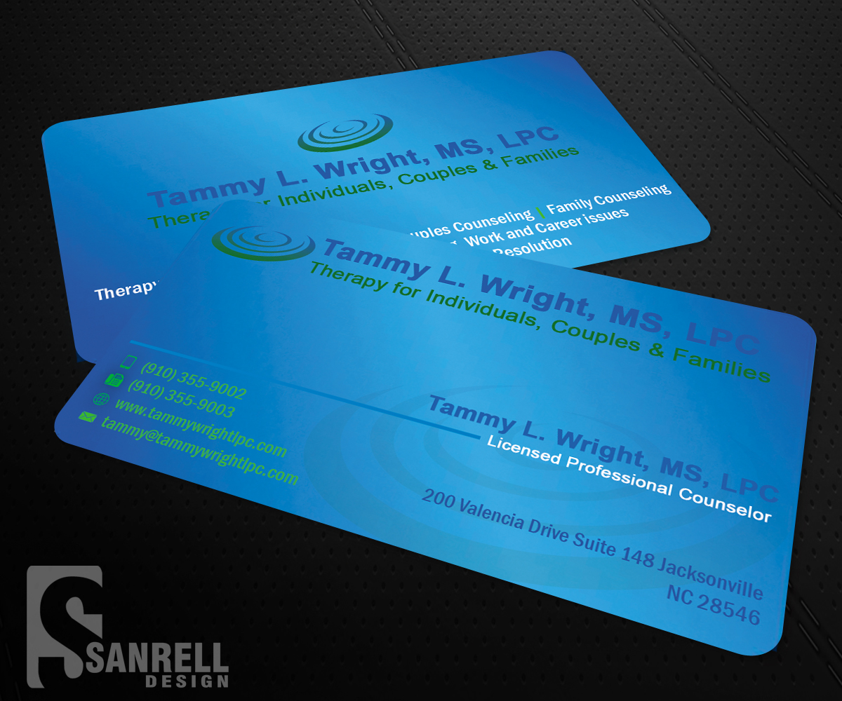 Business business card design for brief therapy center of paris by business card design by sanrell for brief therapy center of paris design colourmoves