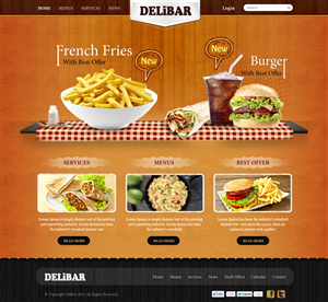 71 modern professional fast food restaurant web designs