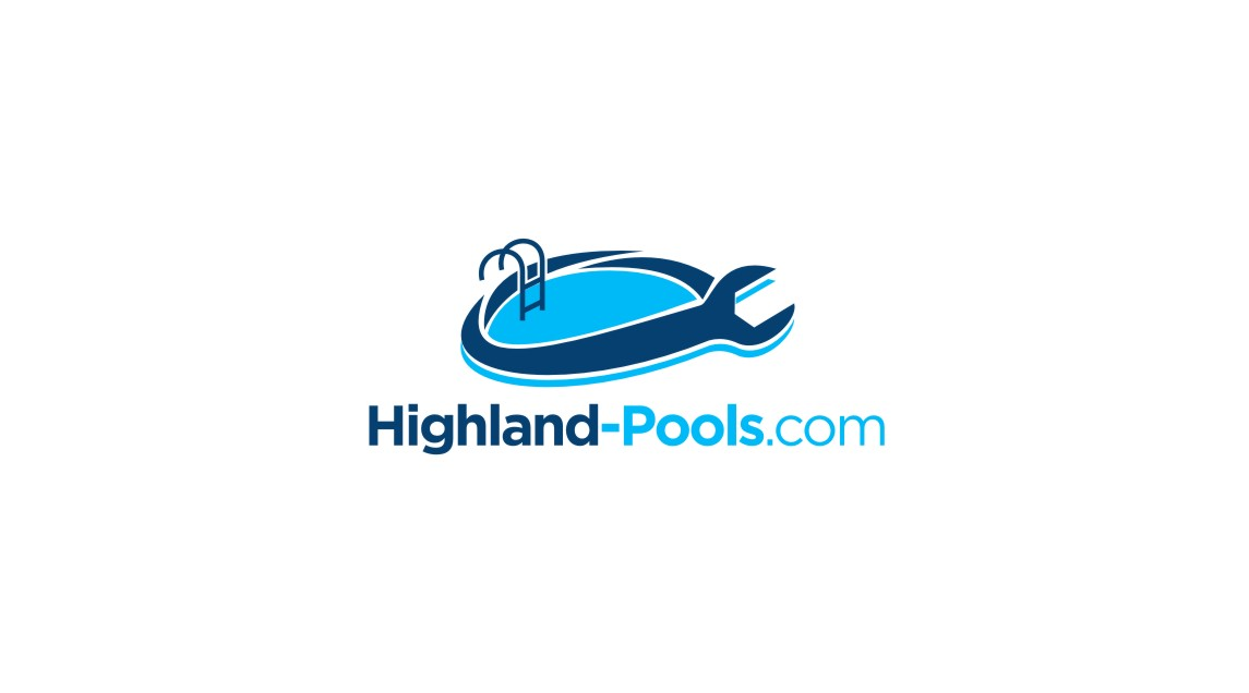 Serious modern it company logo design for highland pools for Pool design logo