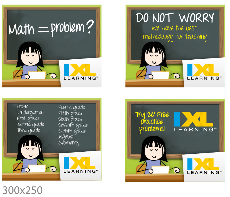 Playful, Personable, Google Banner Ad Design for IXL Learning by JCR ...