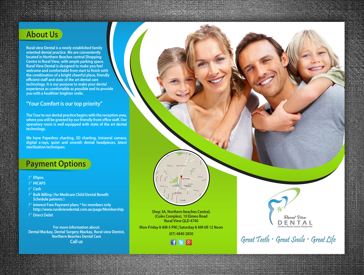 modern professional flyer design for nagesh meharwade by esolz flyer design by esolz technologies for rural view dental practice information flyers design 6181262