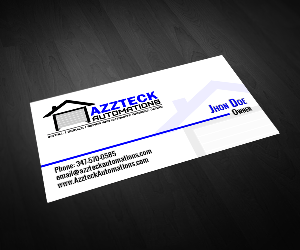 Garage Door Business Cards Templates Arts