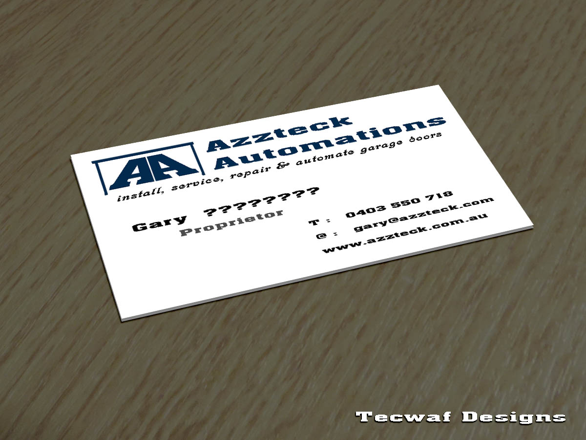 Business Card Design By Tecwaf1 For This Project 6211302