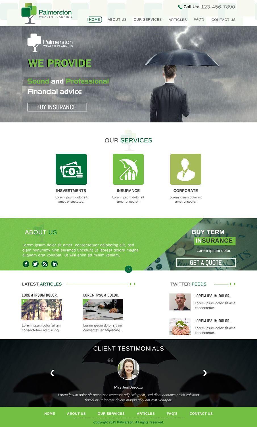 Professional Upmarket Financial Web Design For Palmerston Wealth Planning By Sbss Design