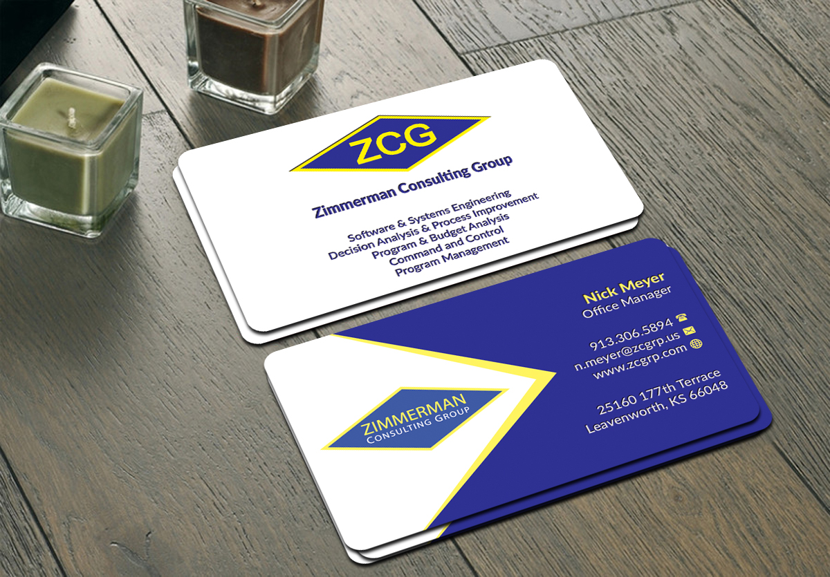 Professional, Serious Business Card Design for Nicholas Meyer by ...