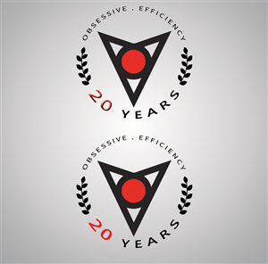 Logo Design by ShinYavi - 20th Anniversary Shot Glass Logo