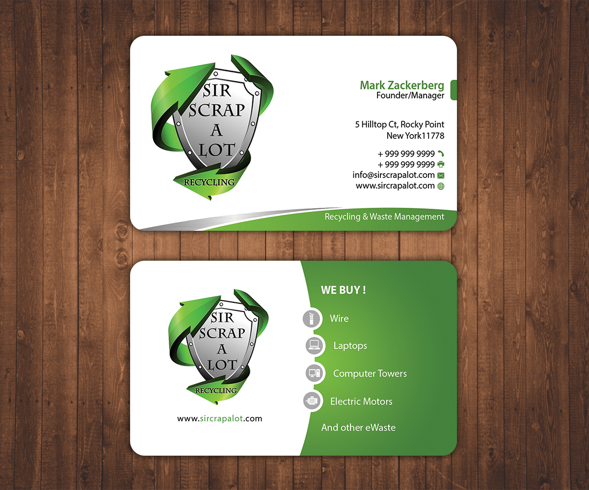 Business Card Design Recycle Gallery - Card Design And Card Template