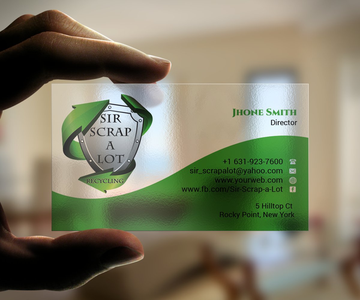 Electrical Business Card Design For Sir Scrap A Lot