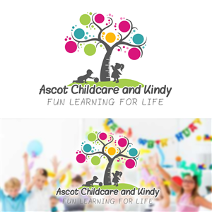 Ascot Childcare And Kindy Fun Learning For Life Logo Design By