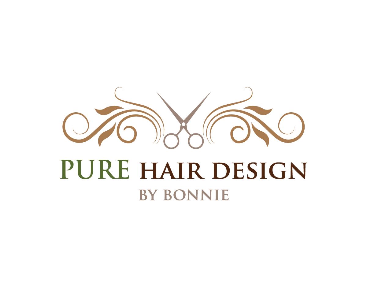 elegant modern salon logo design for pure hair design by