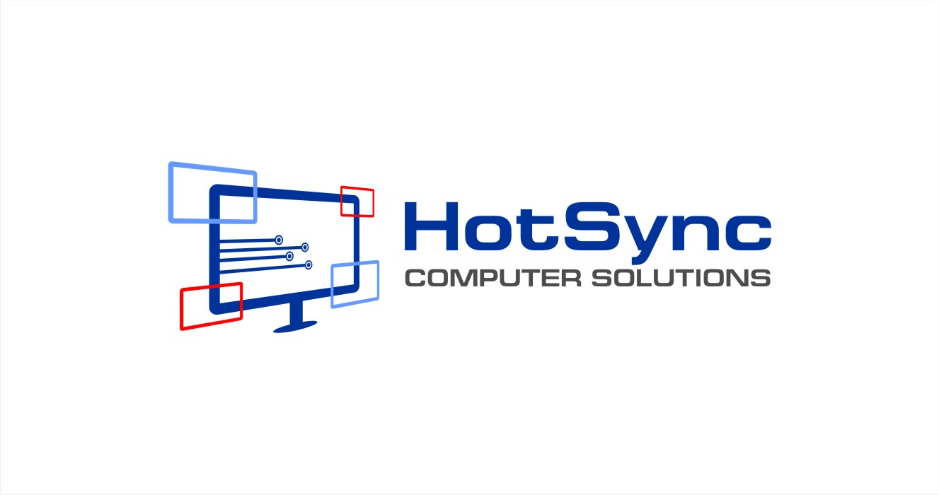 logo design for hotsync computer solutions by hih7