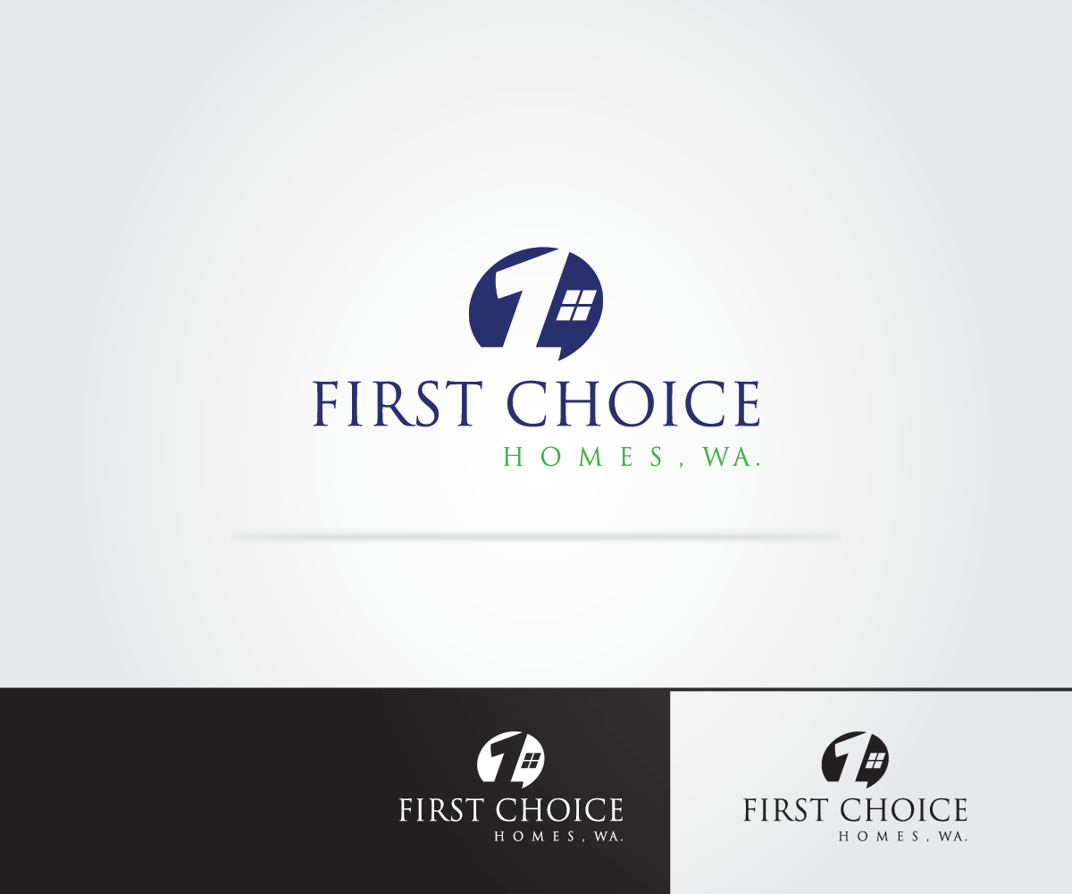 Moderno vistoso construction dise o de logo for first for First choice builders