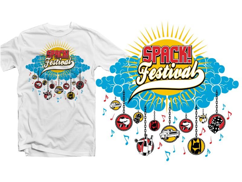 Modern playful electronic t shirt design for spack for T shirt design festival