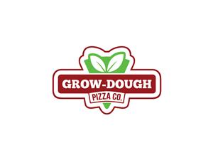 Logo Design for Grow-Dough Pizza Co. by FRESTI