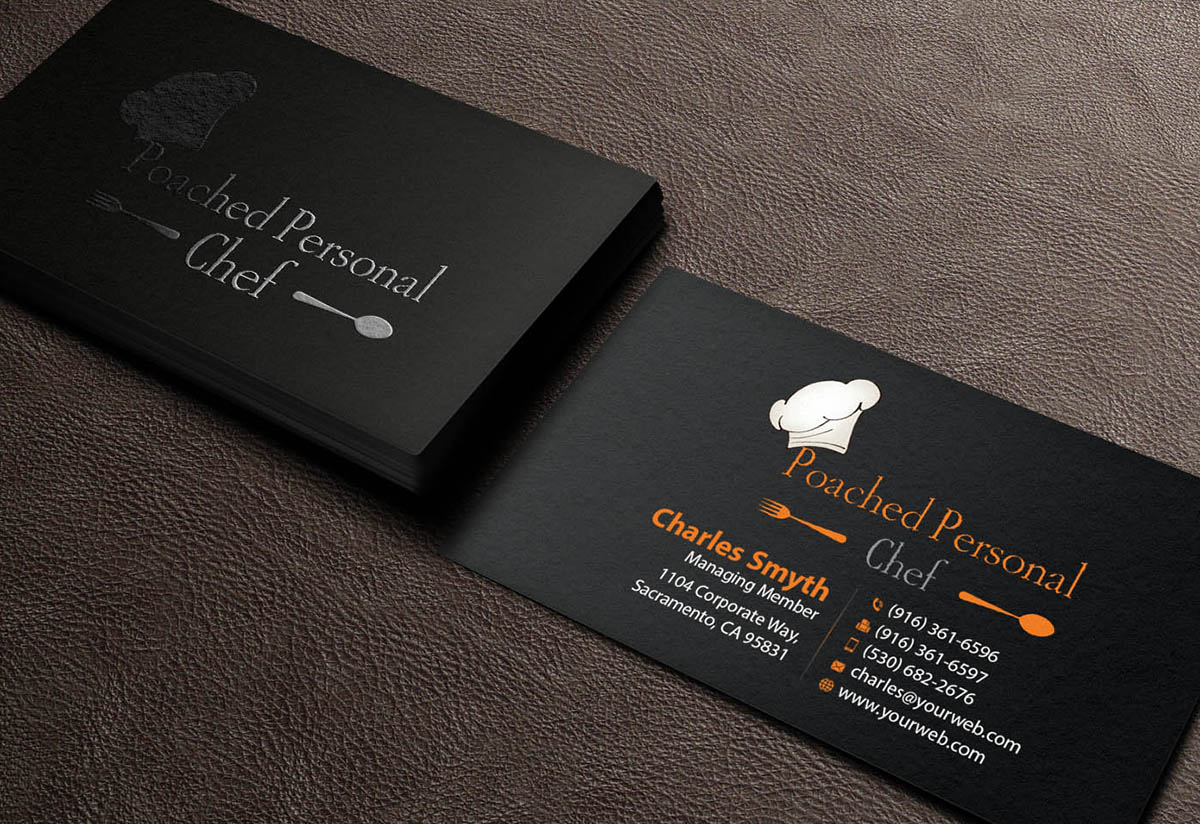 Modern bold chef business card design for a company by business card design by mediaproductionart for this project design 6229577 colourmoves