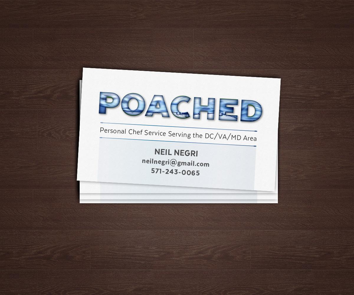 Modern bold business card design for neil negri by d3 graphic business card design by d3 graphic design for personal chef business card design design colourmoves