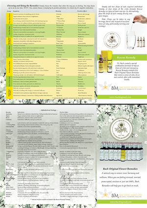 Brochure Design by Marcy M - Tri-Fold Reference Brochure for Bach Flower Rem ...