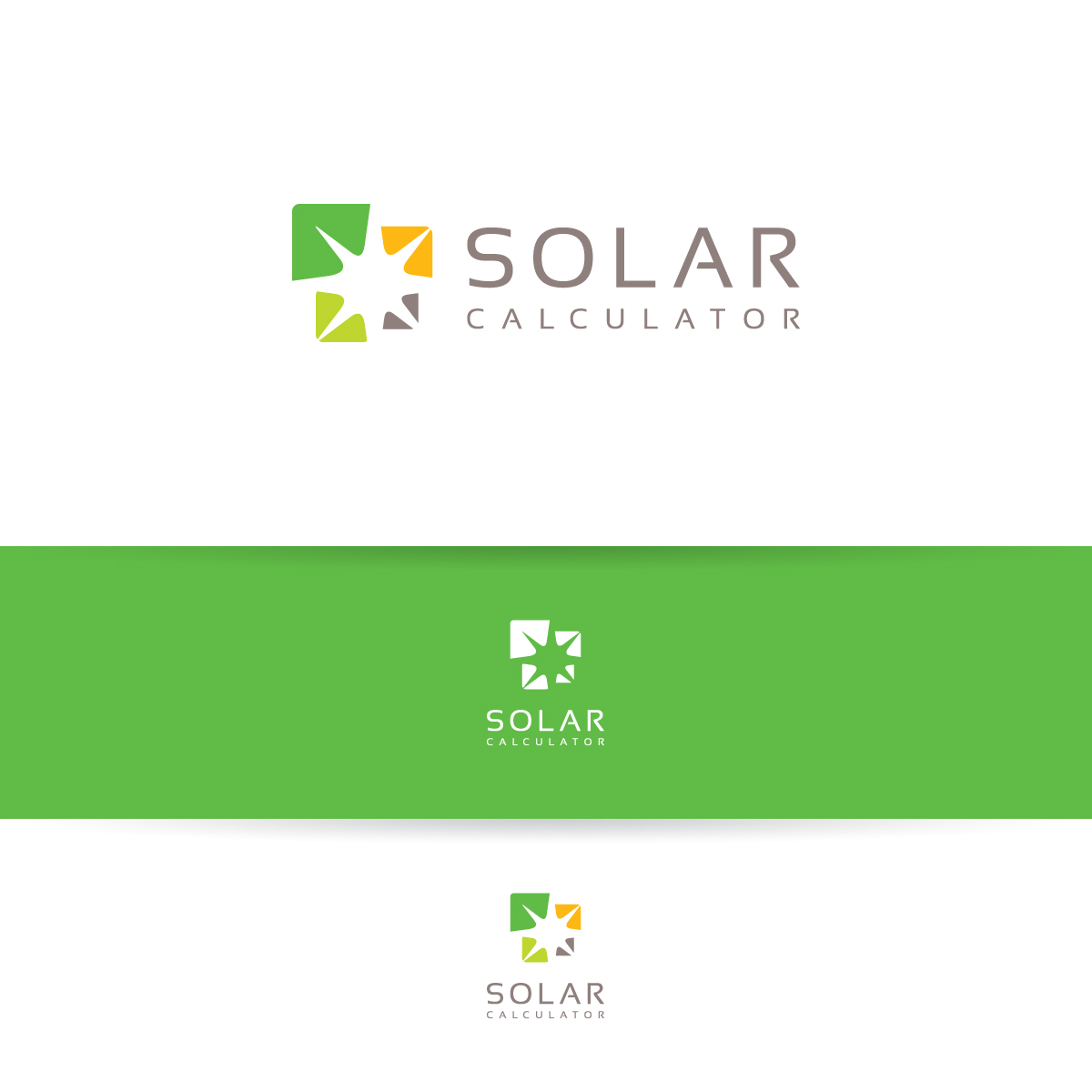 professional modern solar logo design for solar