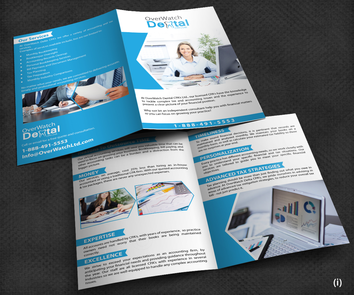 Accounting brochure design for usa chemical supply by for Design company usa