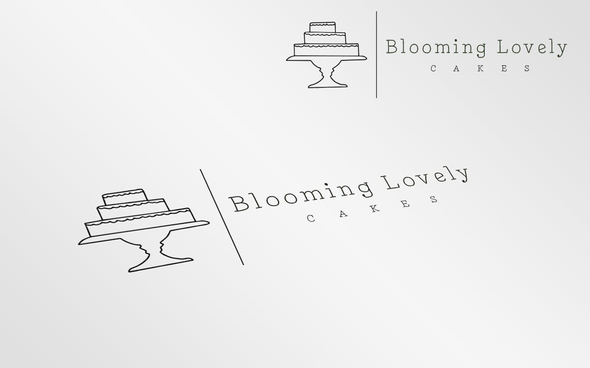 Colorful Elegant Logo Design For Blooming Lovely Cake By