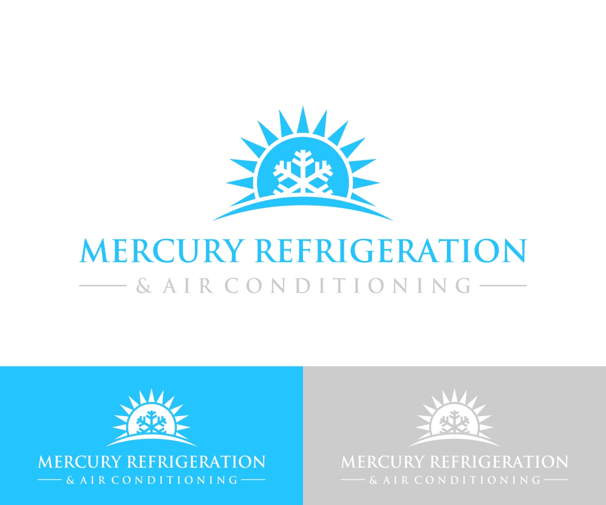 modern, professional logo design for mercury refrigeration and air