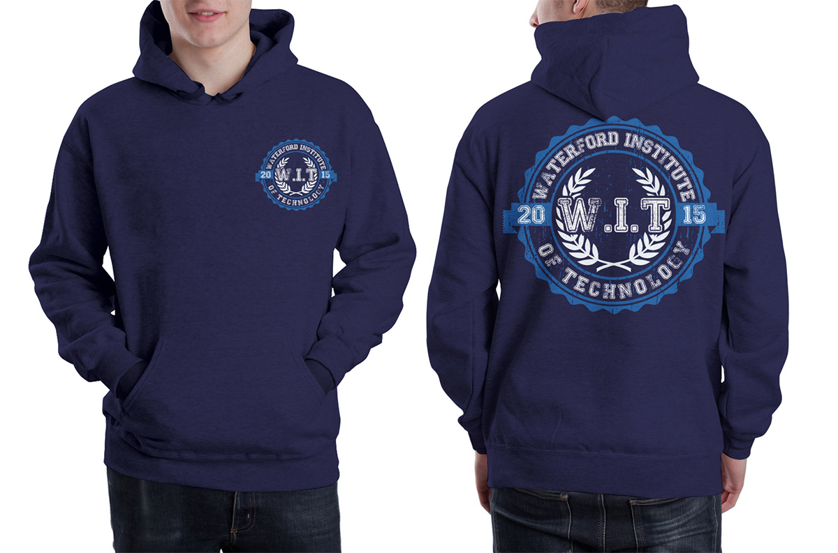 Shirt hoodie design - T Shirt Design By Kid Ink For College Hoodie Design Design 6472462