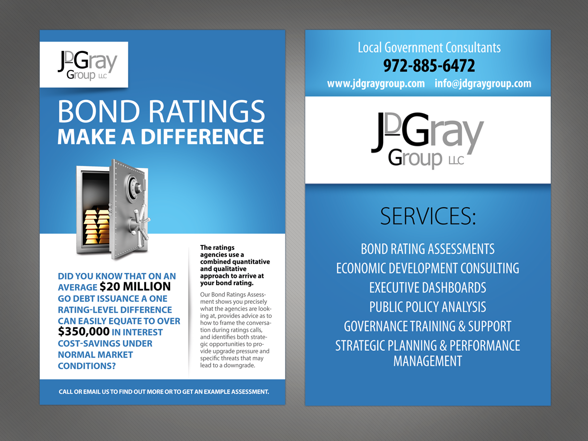 professional serious flyer design for jdgray group llc by flyer design by victor pro for double sided half page marketing handout for professional association conference