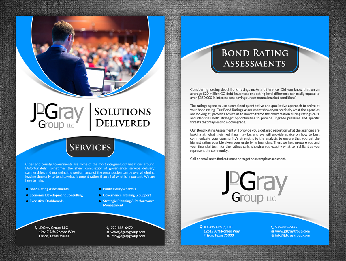 professional serious marketing flyer designs for a marketing flyer design design 6264589 submitted to double sided half page marketing handout