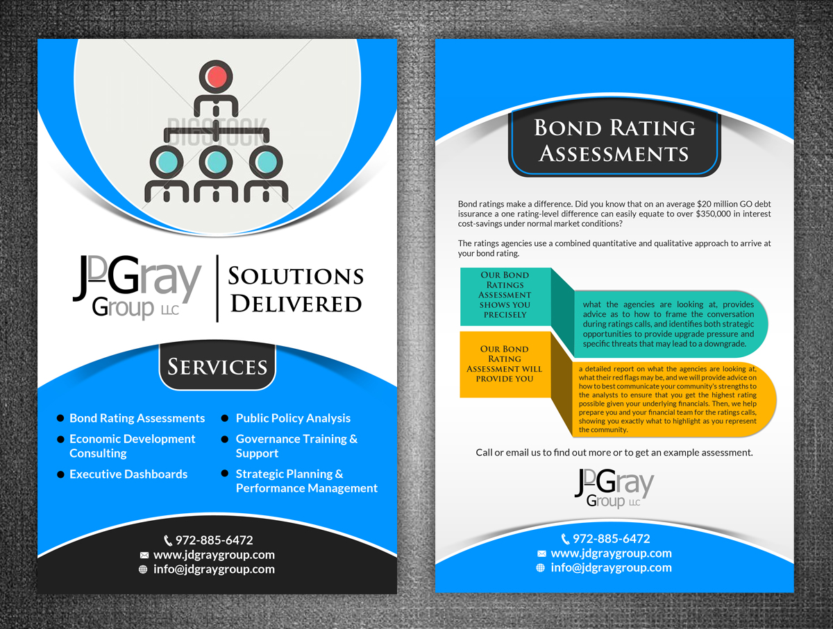 Professional Serious Flyer Design For JDGray Group LLC By