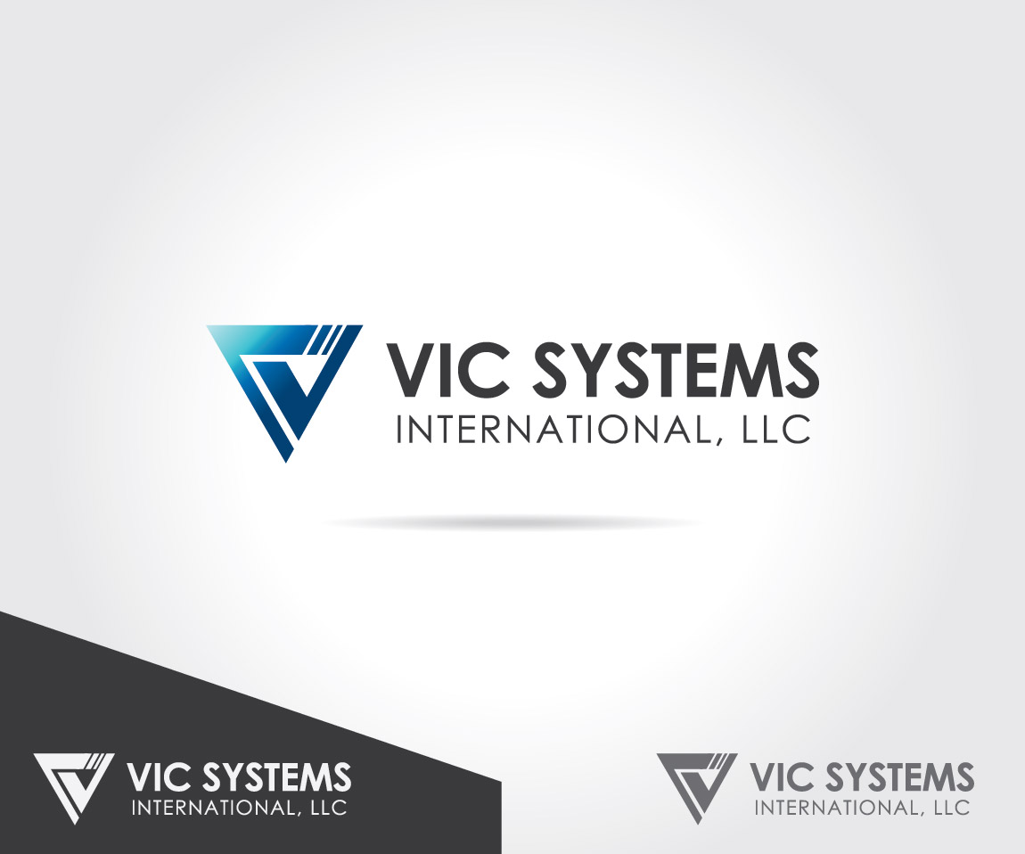 Masculine serious industrial logo design for vic systems for Hispano international decor llc