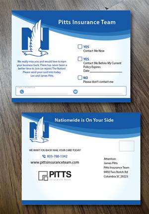 Postcard Design by alex989 - Client Win Back