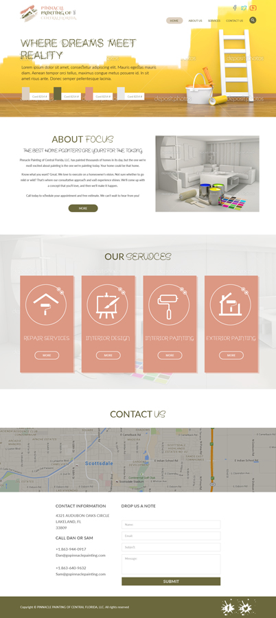 Elegant Playful Apartment Web Design For Pinnacle Painting Of Impressive Apartment Design Painting