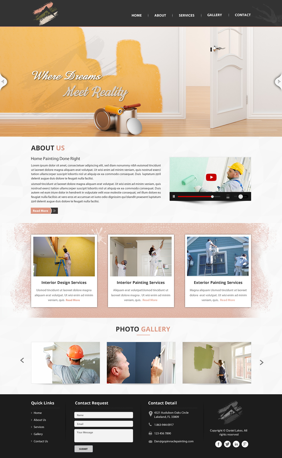 Elegant playful apartment web design for pinnacle for Apartment web design