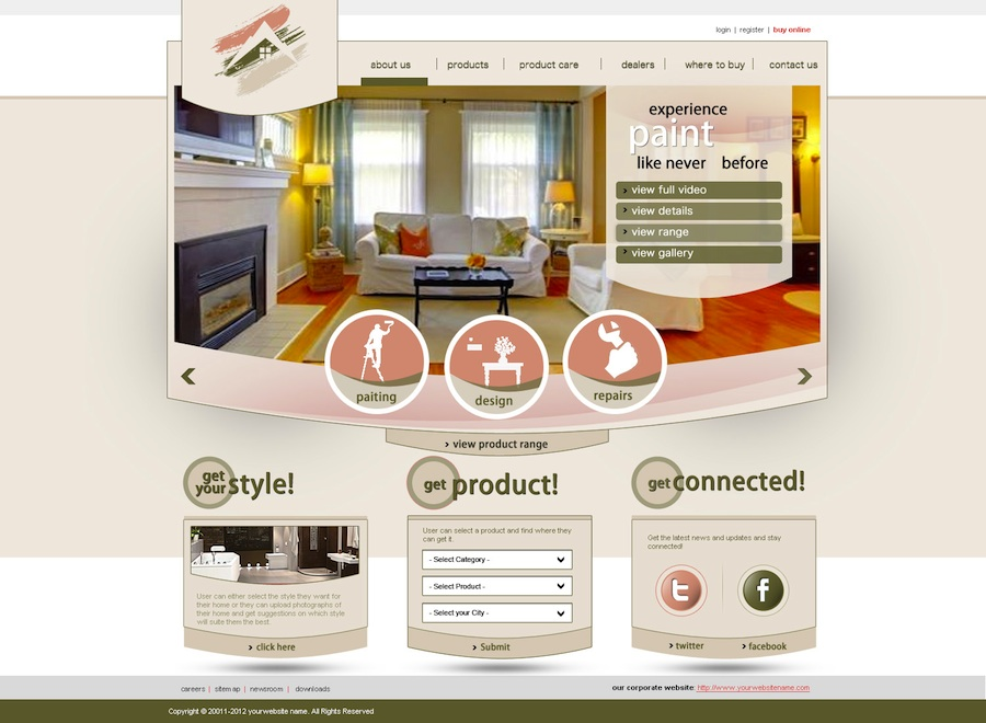 Elegant Playful Web Design for Pinnacle Painting of Central Florida