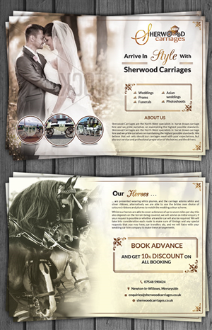 Flyer Design by debdesign - sherwood carriages weddings/proms
